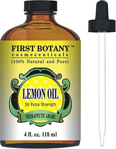 Lemon Essential Oil 5X Extra Strength 4 fl. Oz - Natural Therapeutic Grade - Cold Pressed Premium Quality Oil from Italy
