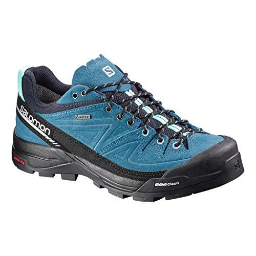 Salomon Women's X ALP LTR GTX W Hiking Sneakers, Blue Leather, 5.5 B