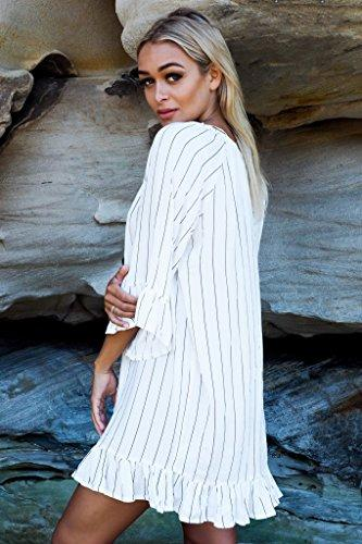 8666f100f7 ... NFASHIONSO Women Loose Oversized Bathing Suit Cover Ups Beach Dresses  ...