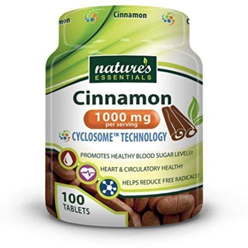 Cinnamon 1000mg Supplement Nature's Essentials