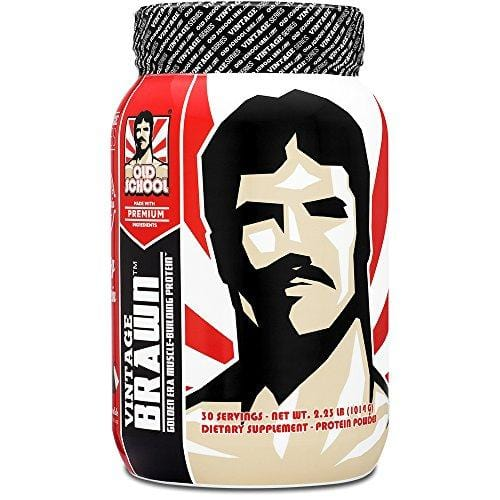 VINTAGE BRAWN Protein - Muscle-Building Protein Powder - The First Triple Isolate of Premium Egg, Milk (Whey and Casein), and Beef Protein - Rich Chocolate Flavor with Zero Sugars and No Artificials Supplement Old School Labs