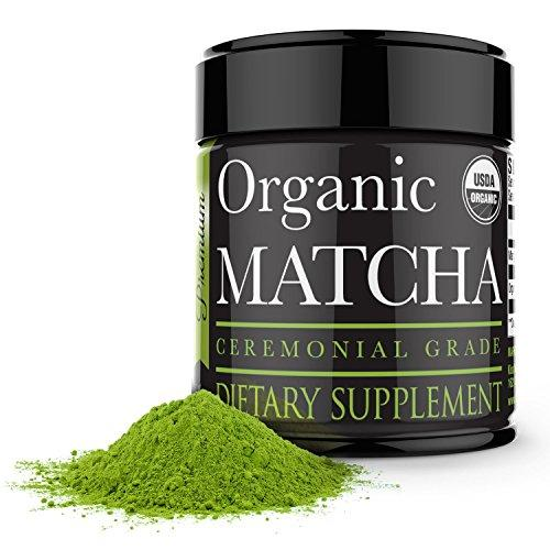 Ceremonial Matcha Green Tea Powder - 1oz - Highest Quality Japanese Matcha Food & Drink Kiss Me Organics