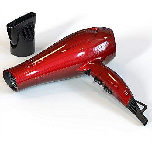 Wazor 1875W Hair Dryer Ceramic Negative Ionic Blow Dryer With 2 Speed and 3 Heat Settings Cool Shot Button Red