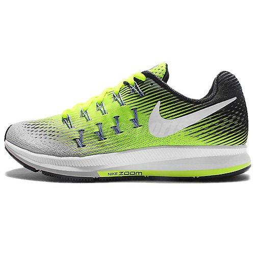 NIKE Women's WMNS Air Zoom Pegasus 33, Matte Silver/White-Volt-Black, 5.5 M US Shoes for Women NIKE