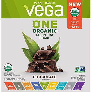 Organic All-in-One Shake, Chocolate, 17 Servings