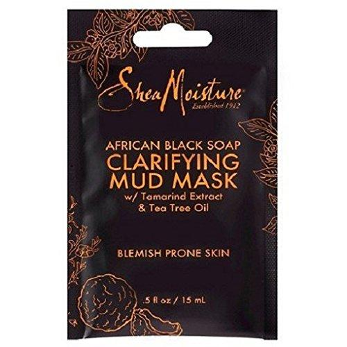 Shea Moisture African black soap clarifying mud mask by shea moisture for unisex mask, 0.5 Ounce