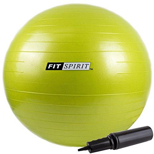 Green Exercise Balance Fitness Yoga Ball with Pump - 45CM Accessory Fit Spirit