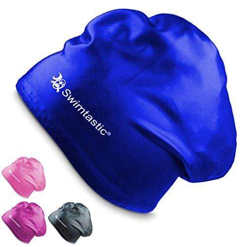 Swimtastic Long Hair Swim Cap - Blue Swim Cap Swimtastic®