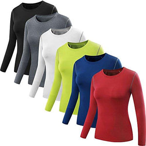 9aac8026 Neleus Women's 3 Pack Dry Fit Athletic Compression Long Sleeve T Shirt