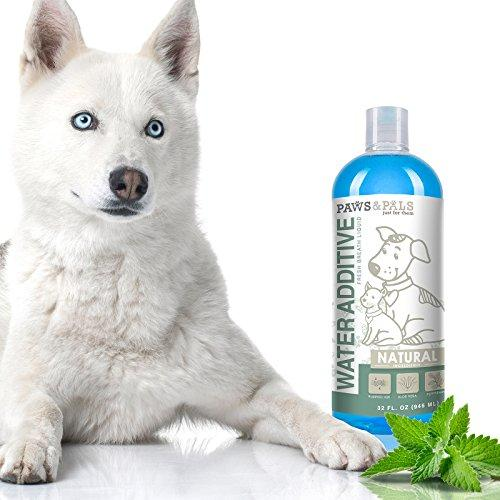 Pet Dog Breath Freshener Water Additive Mouthwash for Fresh Teeth Cleaning Plaque Tartar Remover Cat Oral Dental Care | New Formula 2017 Animal Wellness Paws & Pals