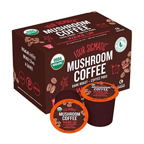 Four Sigmatic Mushroom Kcup Coffee Pods with Chaga and Cordyceps