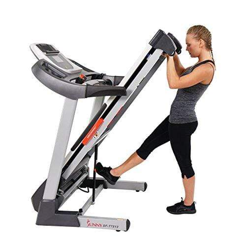 Sunny Health & Fitness Treadmill Folding Motorized Running Machine Sport & Recreation Sunny Health & Fitness