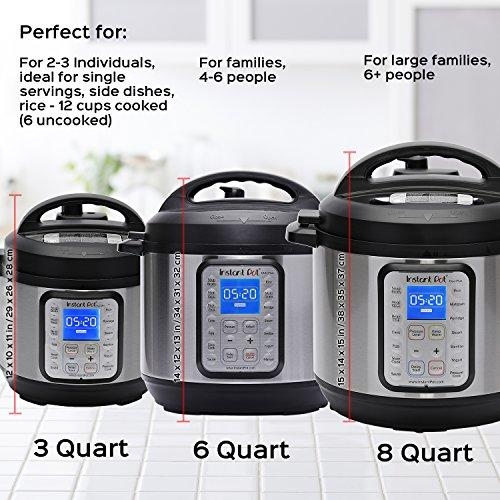 DUO Plus 60, 6 Qt 9-in-1 Multi- Use Programmable Pressure Cooker, Slow Cooker, Rice Cooker, Yogurt Maker, Egg Cooker, Sauté, Steamer, Warmer, and Sterilizer Kitchen & Dining Instant Pot