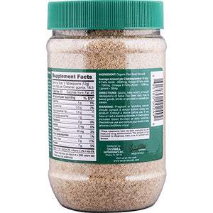 Sanar Naturals Organic Ground Flaxseed, 8 Ounce - Semilla de Lino, Linaza, Great Source of Omega 3,6,9, Dietary Fibers, Lignans, and Protein