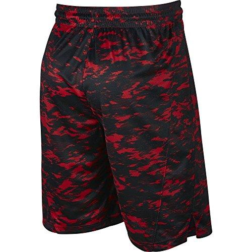 NIKE Men's Dry Print Attack Shorts, University Red/Black/White, Large