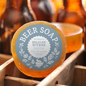 Beer Soap (Belgian Witbier) - All Natural + Made in USA - Actually Smells Good! Perfect Gift For Beer Lovers