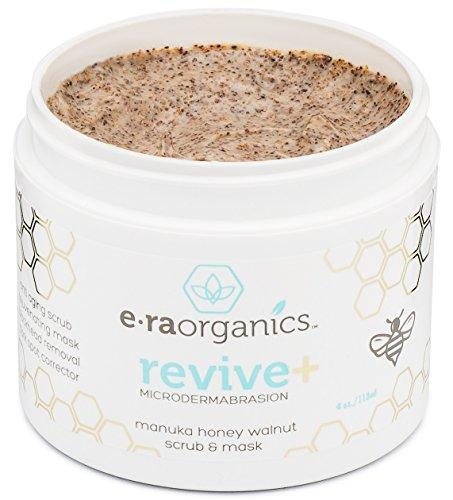 Microdermabrasion Face Scrub & Facial Mask - Manuka Honey & Walnut Natural Face Exfoliator for Dull or Dry Skin, Wrinkles, Blemishes, Acne Scars & More