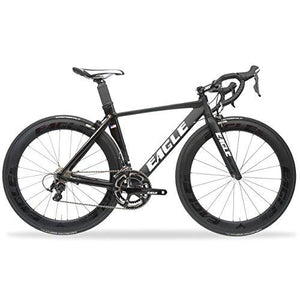 Eagle AZ1 Aero Road Bike - Made of High End Aluminum and paired with Shimano 105 and Carbon Wheels - 50cm (50, Shimano 105 w/Eagle 65/65 Wheels)