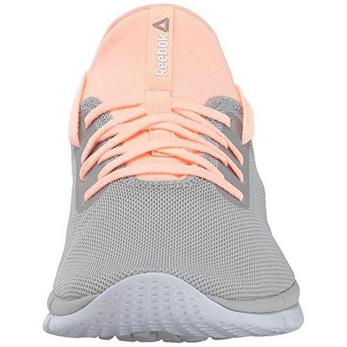 Reebok Women's Print Her 2.0 GR Track Shoe, Gr-Skull Grey/Peach Twist/White, 9 M US Shoes for Women Reebok