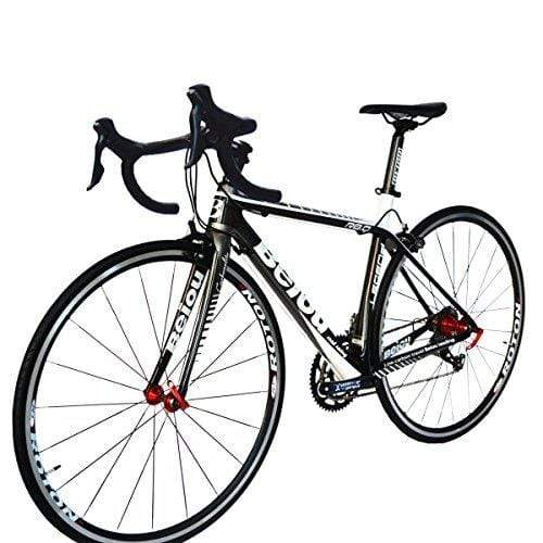 BEIOU Carbon Road Bike 700C 23mm Shimano TIAGRA 4700 20 Speeds Complete Racing Bicycle T800 Ultralight Frame Fork 3K 012B (Silver, 500mm)