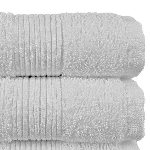 Luxury Premium Long-stable Turkish Cotton Washcloth For Bathroom-Hotel-Spa-Kitchen - Highly Absorbent Eco-Friendly Quality Face Towels-Bulk Set of 12 (White)