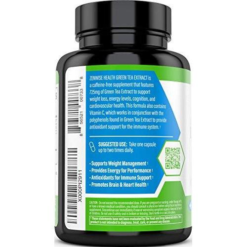 Green Tea Extract Supplement with EGCG & Vitamin C Supplement Zenwise Health