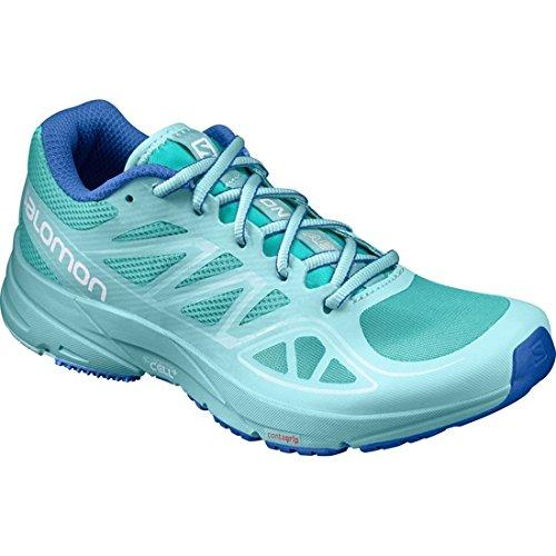 Salomon Women's Sonic Aero Running Shoes Ceramic/Aruba Blue/Nautical Blue 7.5