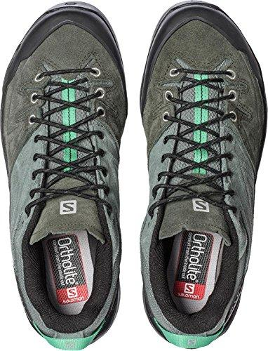 Salomon Women's X ALP LTR W Hiking Sneakers, Grey Leather, 5 B