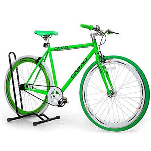 Caraci CBF2ST53WG Steel Frame Fixed Gear Bike, White/Green, 53cm
