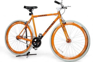 Caraci CBF1AL53OR Aluminum Frame Fixed Gear Bike, Orange, 53cm