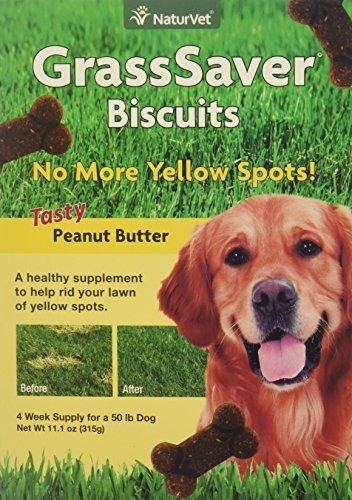 NaturVet GrassSaver Biscuits Peanut Butter Flavor for Dogs, 11 oz Biscuits, Made in USA Animal Wellness NaturVet