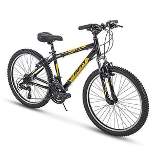 "Huffy Bicycle Company 24"" Escalate Men's 21-Speed Hardtail Mountain Bike, Gloss Black"