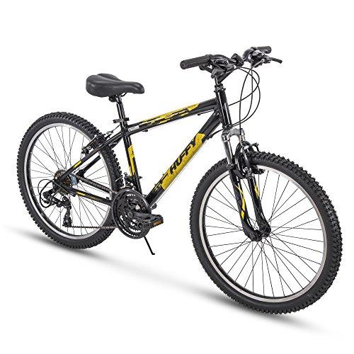 "Huffy Bicycle Company 24"" Escalate Men's 21-Speed Hardtail Mountain Bike, Gloss Black Sport & Recreation Huffy"