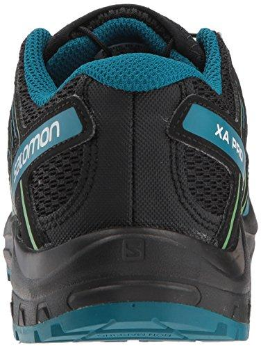 Salomon XA PRO 3D J Trail Running Shoe, Black/deep Lagoon/Onlime Lime, 3 Child US