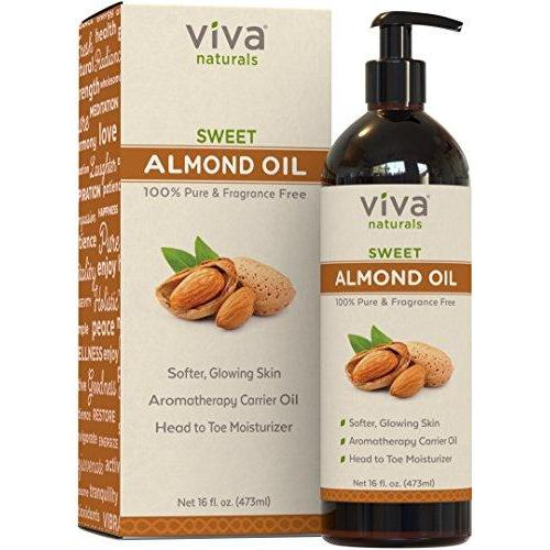 Sweet Almond Oil Beauty & Health Viva Naturals