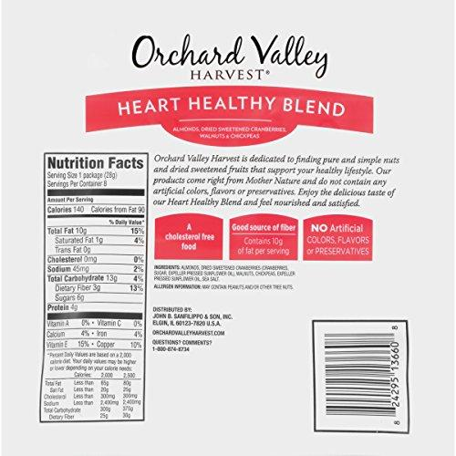 ORCHARD VALLEY HARVEST Heart Healthy Blend, Non-GMO, 1 oz (Pack of 8) Food & Drink Orchard Valley Harvest