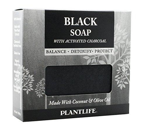 Plantlife Black Soap With Activated Charcoal 4.5 oz