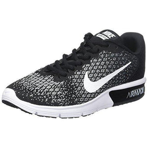NIKE Women's WMNS Air Max Sequent 2, Black/White/Dark Grey, 10.5 M US