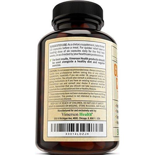 Glucosamine with Chondroitin Turmeric MSM Boswellia Supplement Vimerson Health