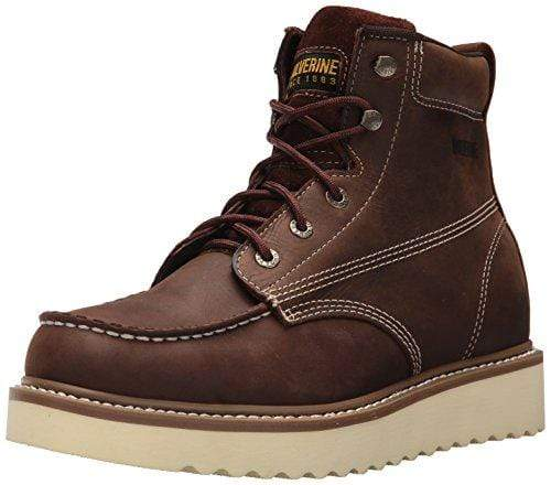 "Wolverine Men's Loader 6"" Soft Toe Wedge Work Boot, Brown, 10.5 M US"