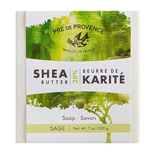 Pre de Provence Enriched, Soothing & Moisturizing 20% Pure Shea Butter Men's Soap Bar (200 Gram) - Sage