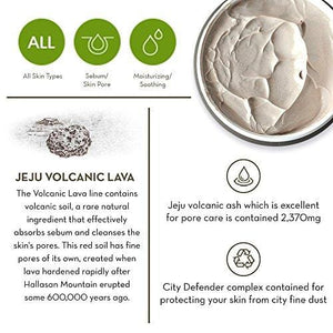 The Face Shop Jeju Volcanic Lava Pore Face Mud Mask For Blackhead Acne Minimizer (100 mL/3.3 Oz)