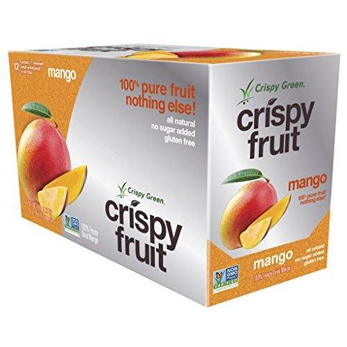 Freeze-Dried Fruits, Non-GMO, Gluten Free, No Sugar Added, Mango (12 Count)