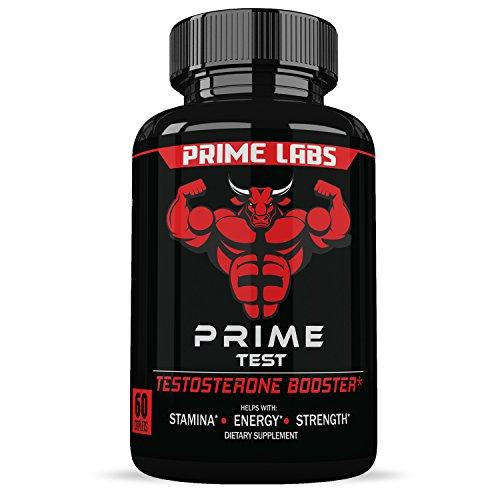 Prime Labs Men's Testosterone Booster (60 Caplets) - Natural Stamina, Endurance and Strength Booster - Fortifies Metabolism - Promotes Healthy Weight Loss and Fat Burning
