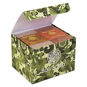 Bali Soap - Natural Soap Bar Gift Set, Face Soap or Body Soap, 6 pc Variety Soap Pack (Coconut, Papaya, Vanilla, Lemongrass, Jasmine, Ylang-Ylang) 3.5 Oz each