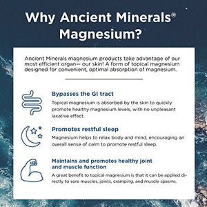 Ancient Minerals Magnesium Lotion Ultra with OptiMSM - Pure Genuine Zechstein Magnesium Lotion Supplement with MSM for Topical Application (5oz)