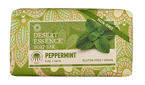 Desert essence organic peppermint soap (2pk) 5 oz