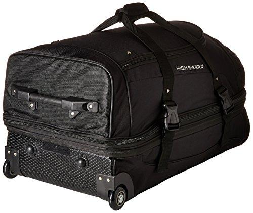 "High Sierra 32"" Drop Bottom Wheeled Duffel (Black)"