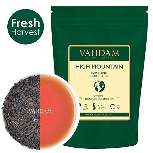 High Mountain Oolong Tea Leaves from Himalayas (50 Cups), 100% Natural Detox Tea Food & Drink VAHDAM