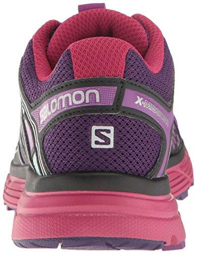 Salomon Women's X-Mission 3 W Trail Runner, Acai/Sangria/Fair Aqua, 8 M US